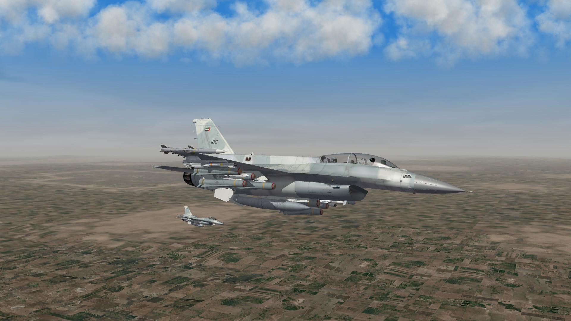 2016 UAE F16F over Irak