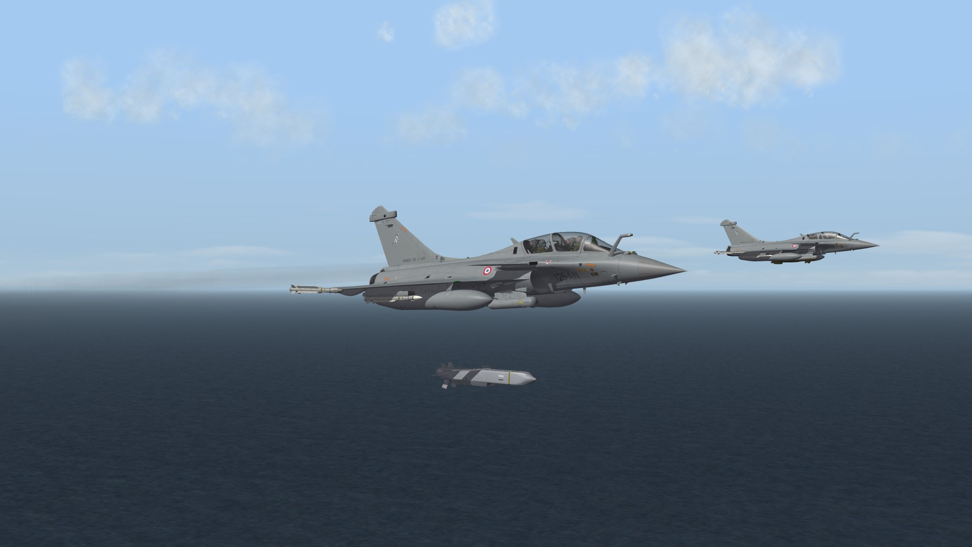 2011 Rafale B using Scalp against ground target in Libya
