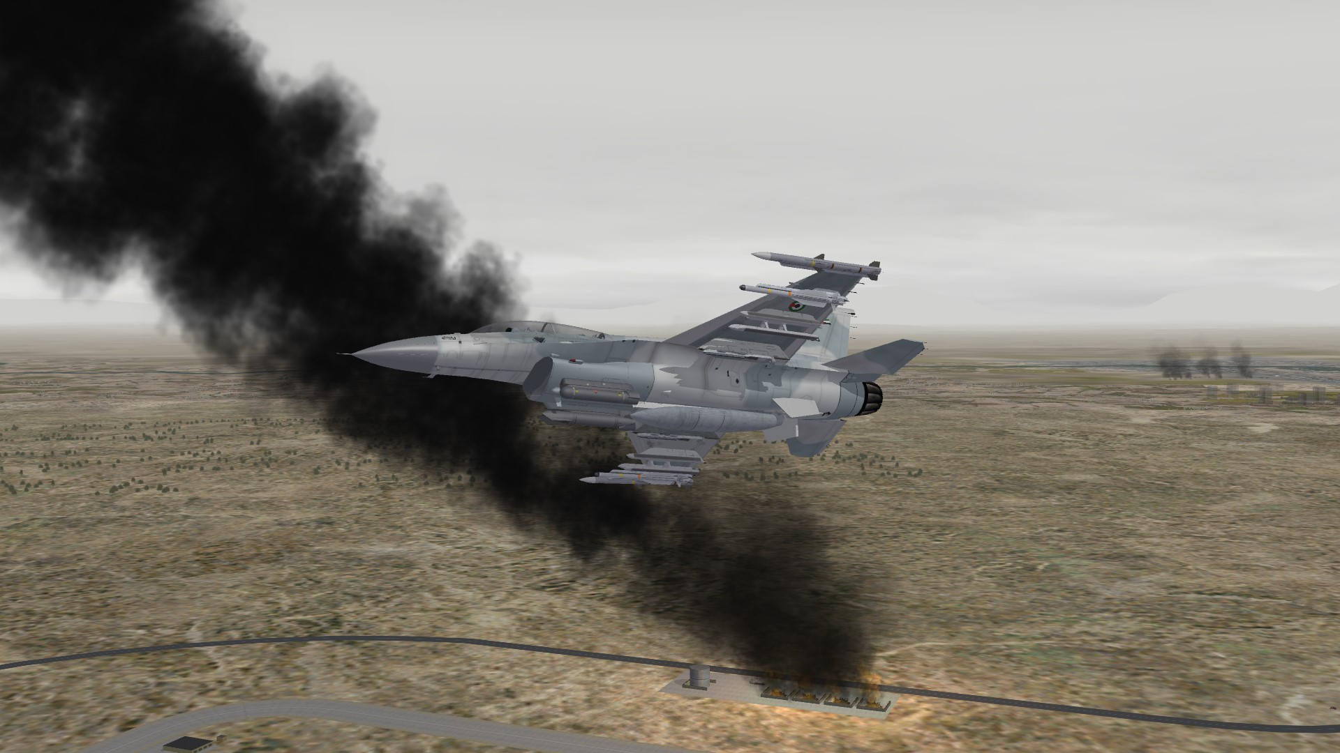 2016 UAE F16F hitting targets in Irak