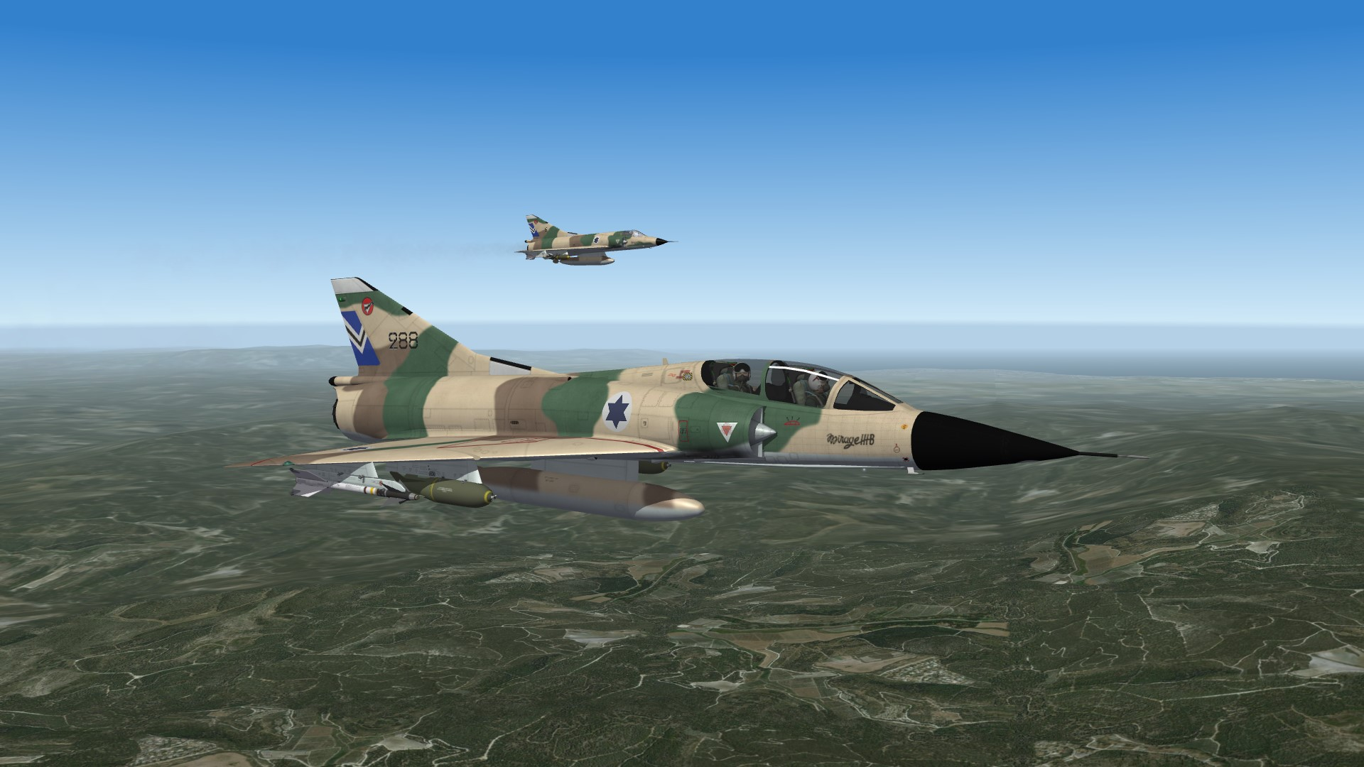 1969 Mirage IIIBJ and Nesher on their way