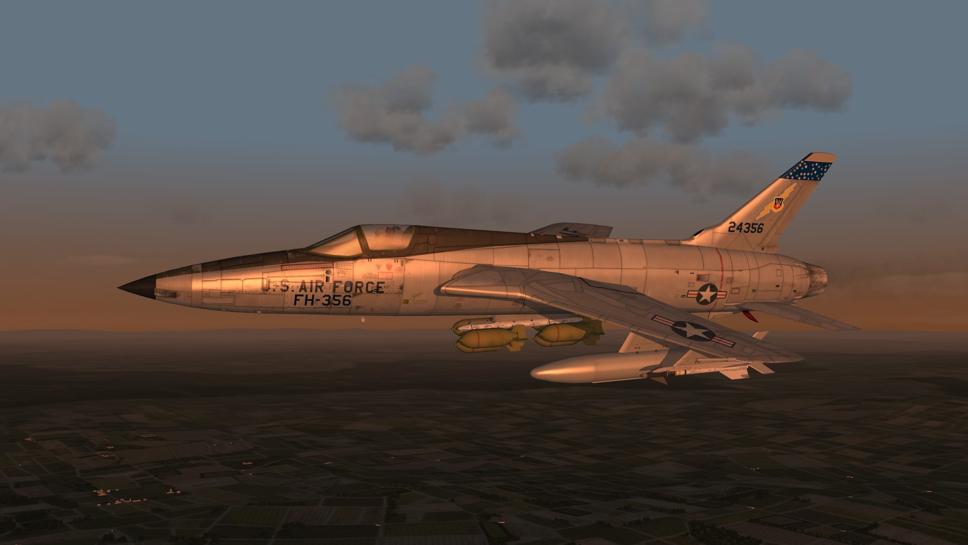 1962 F105B over W.Germany