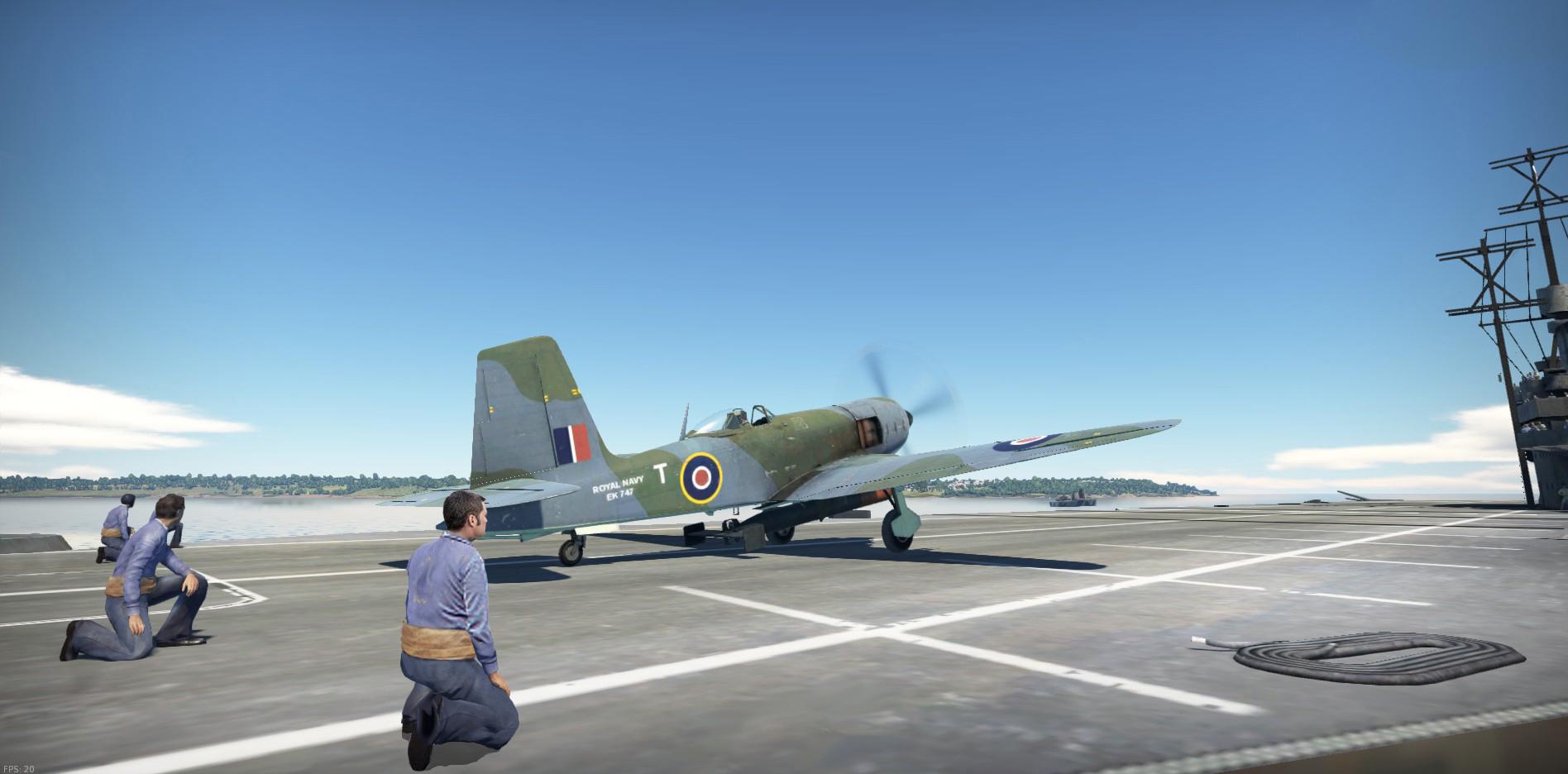 1946 Blackburn Firebrand on deck
