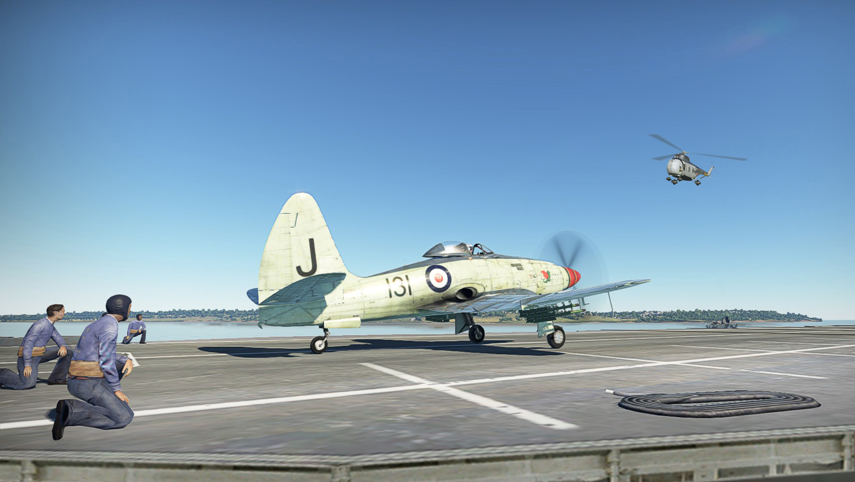 1956 Wyvern S4 on deck ready to take off
