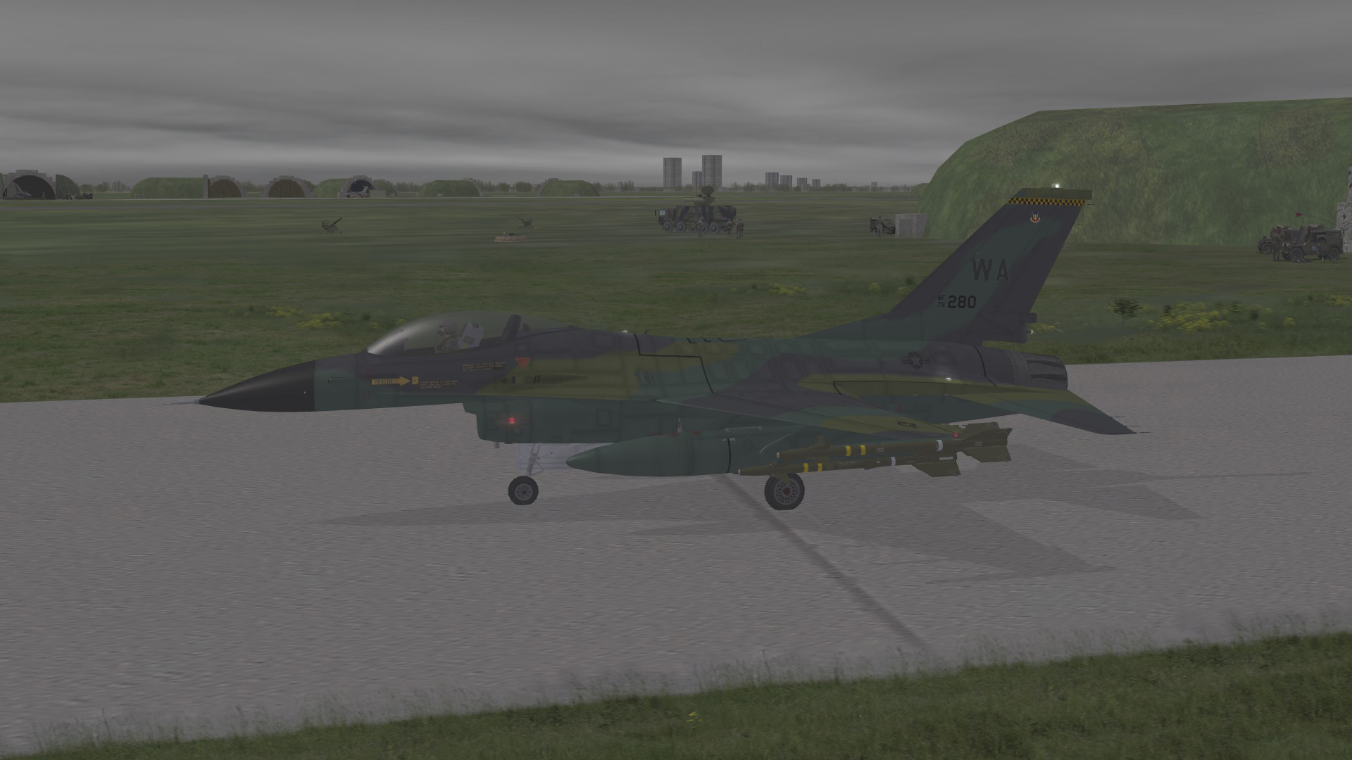 1986 A16 Taxiing on home base W.Germany