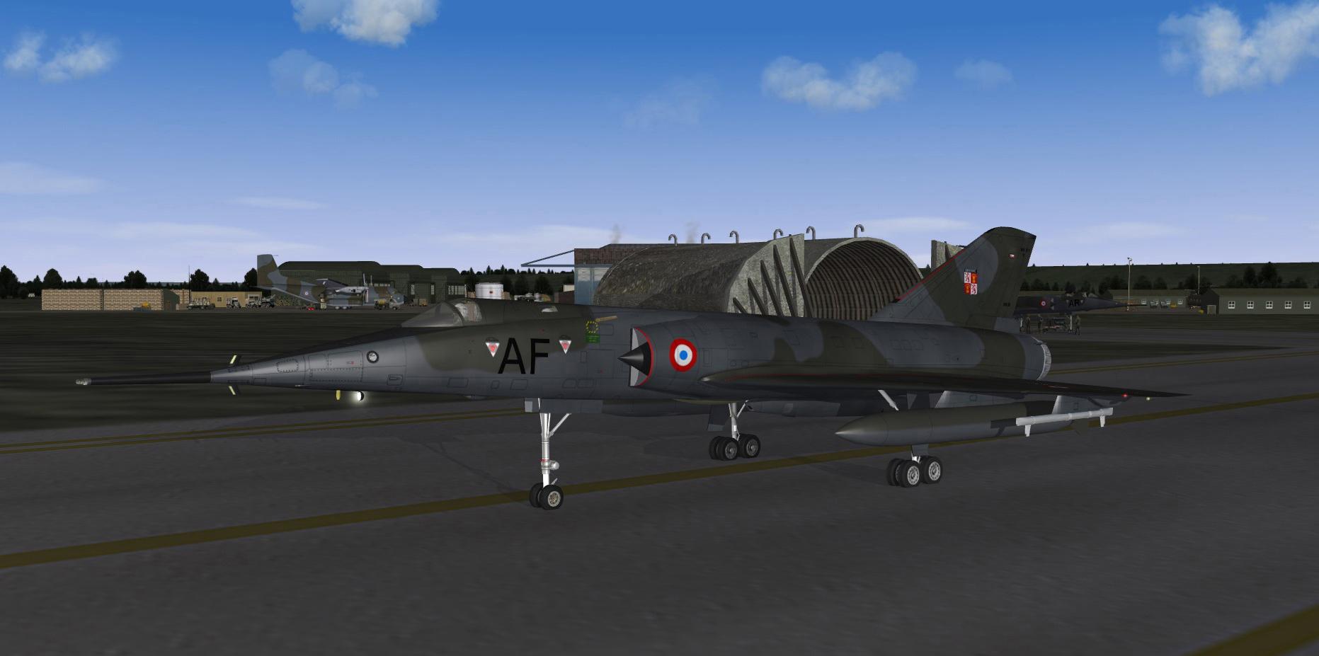 1986 Mirage IVP on home base
