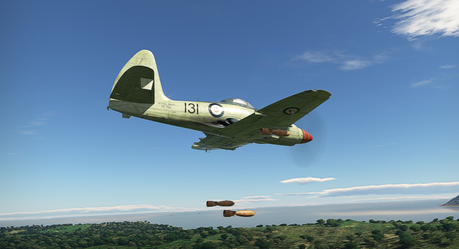 1956 Wyvern S4 Bombs gone!
