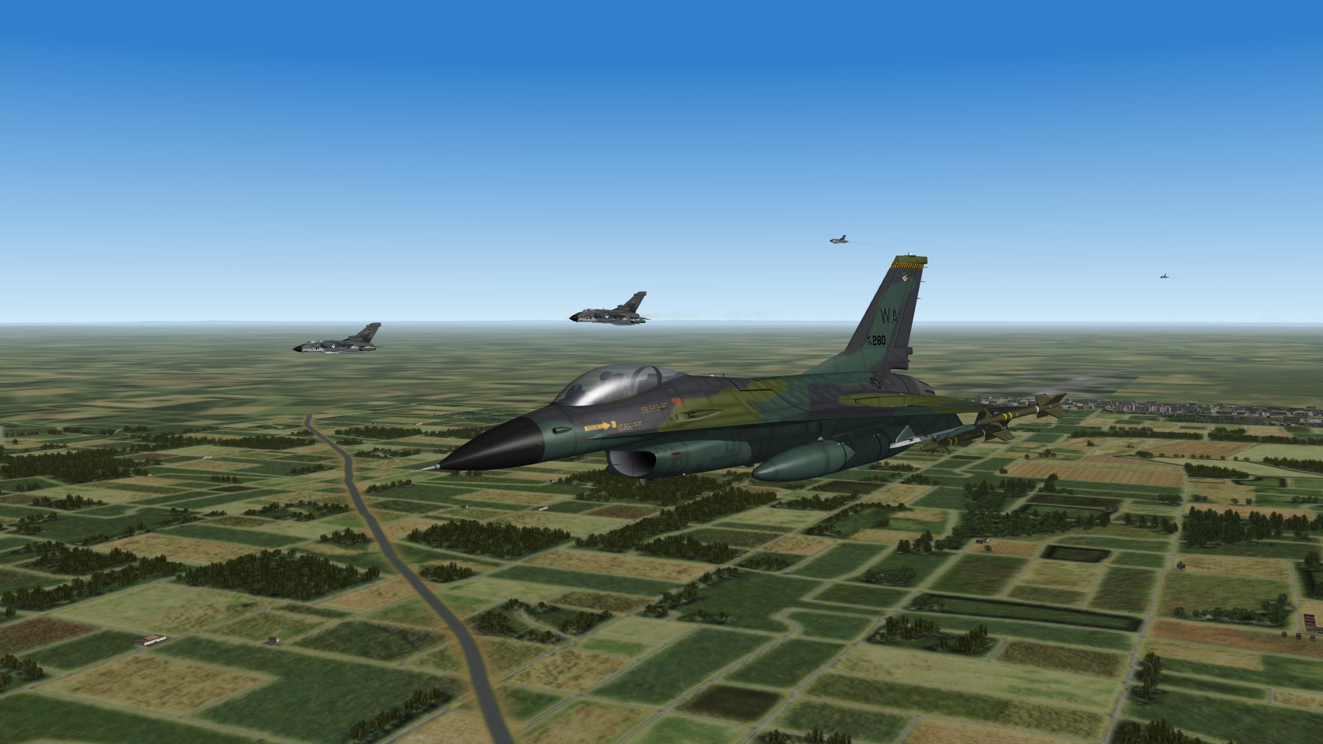 1986 A16 going home with German Tornados