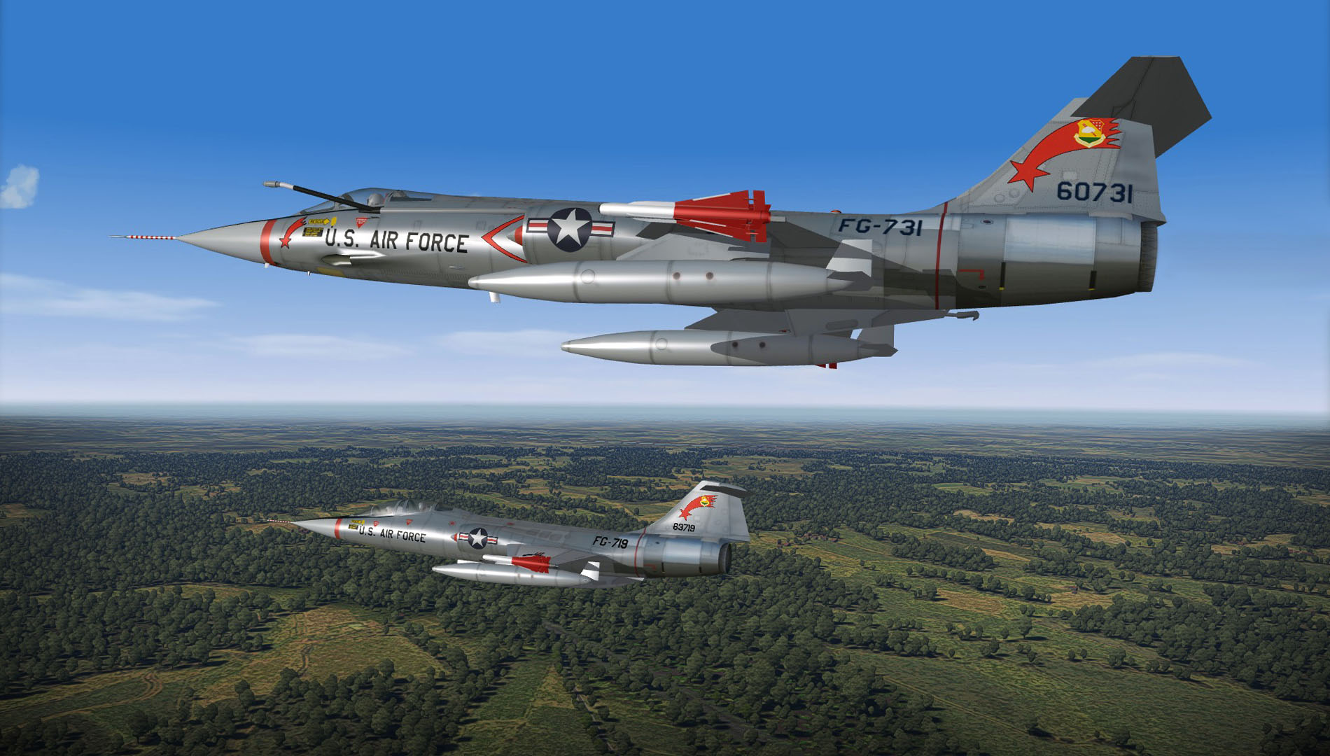 1962 F104B & C over W.Germany
