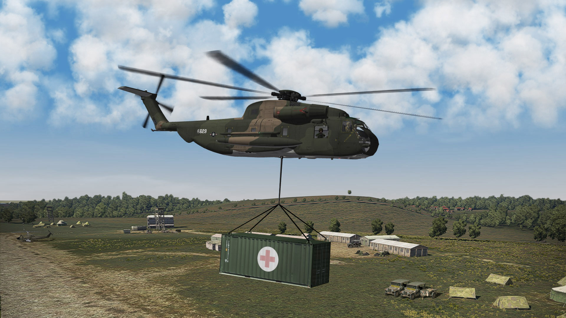 1968 CH53C airlifting container. W.Germany