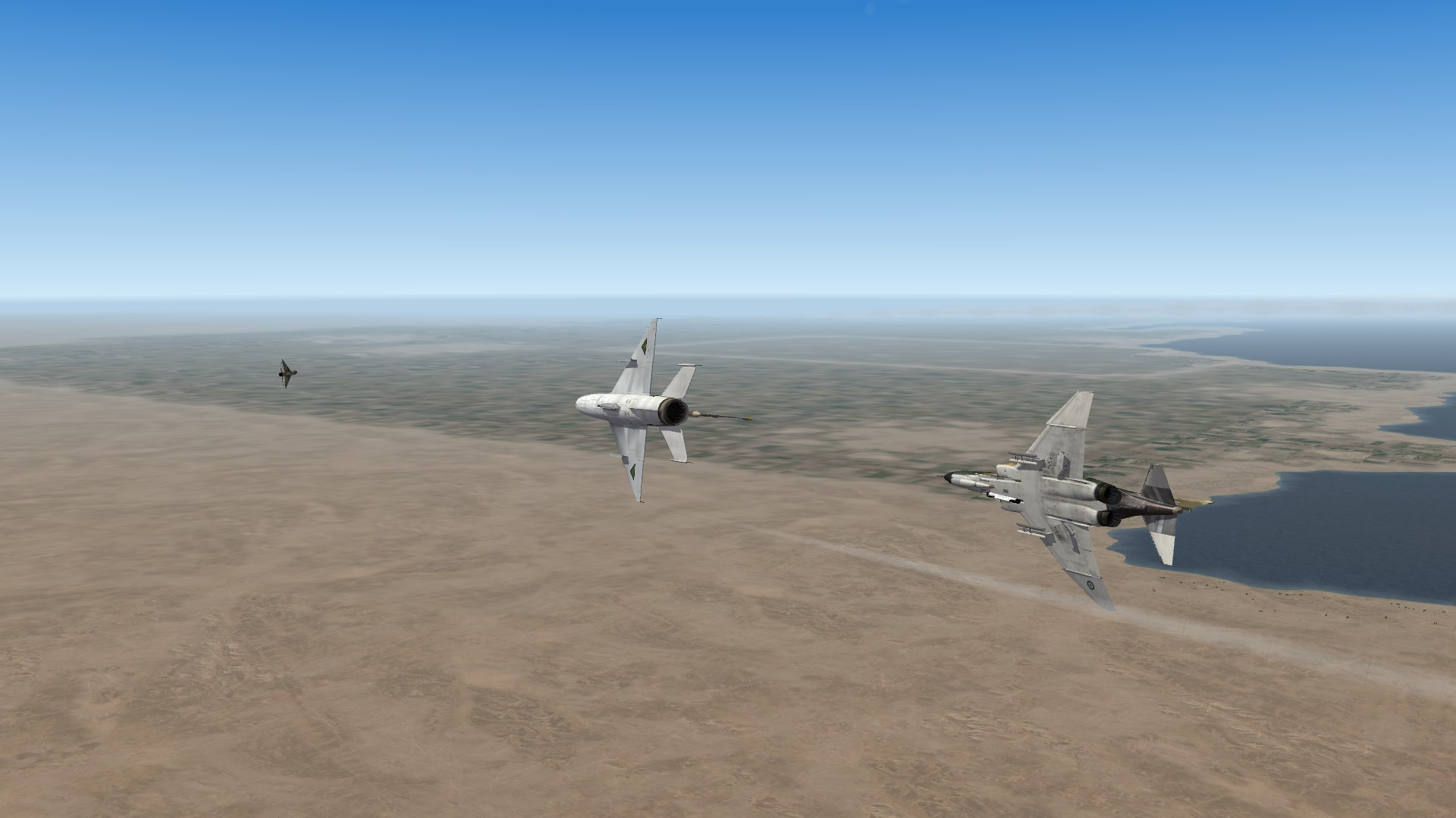 Mig 21 and F4 in dogfight 02