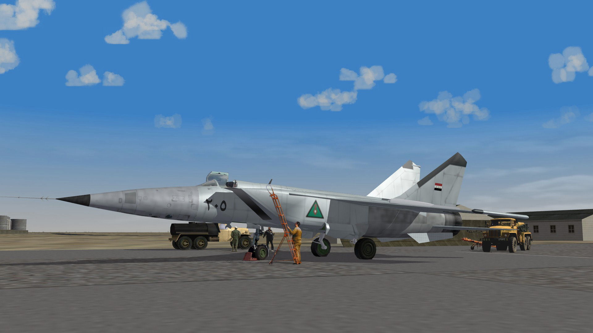 Mig 25 being prepared for a new mission