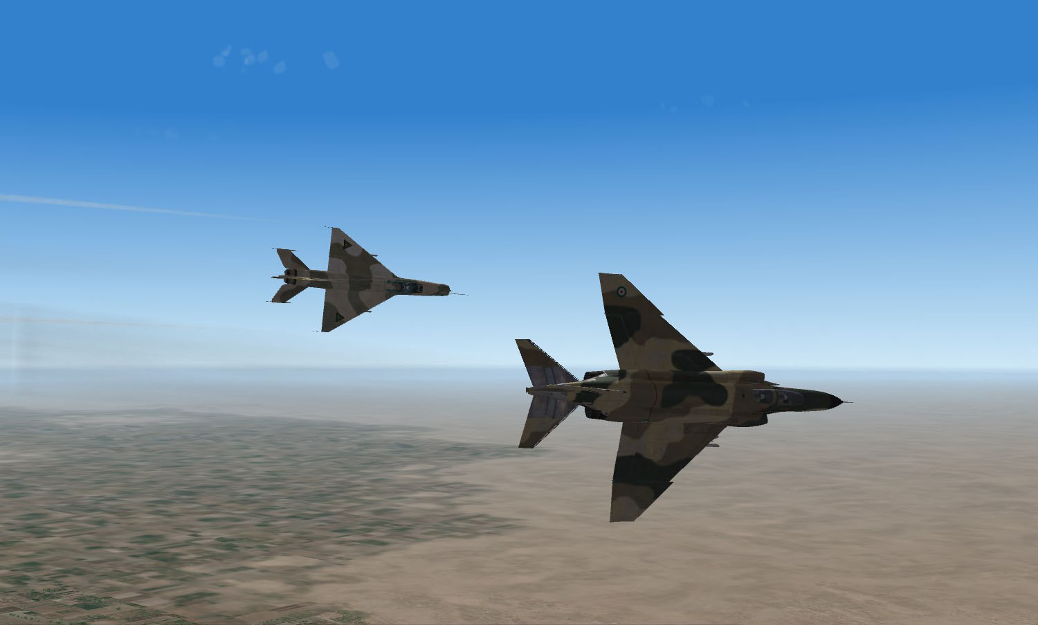 Mig 21 and F4 in dogfight 01