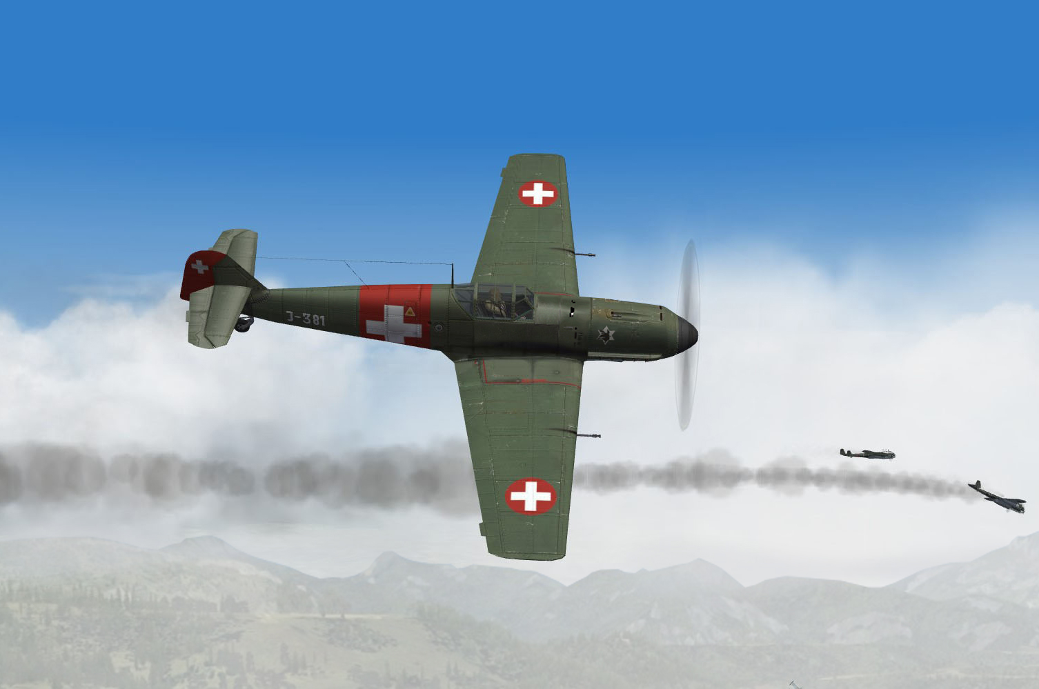 Swiss 06/1940 Bf109E3 of CP av6 kill on a Do17Z