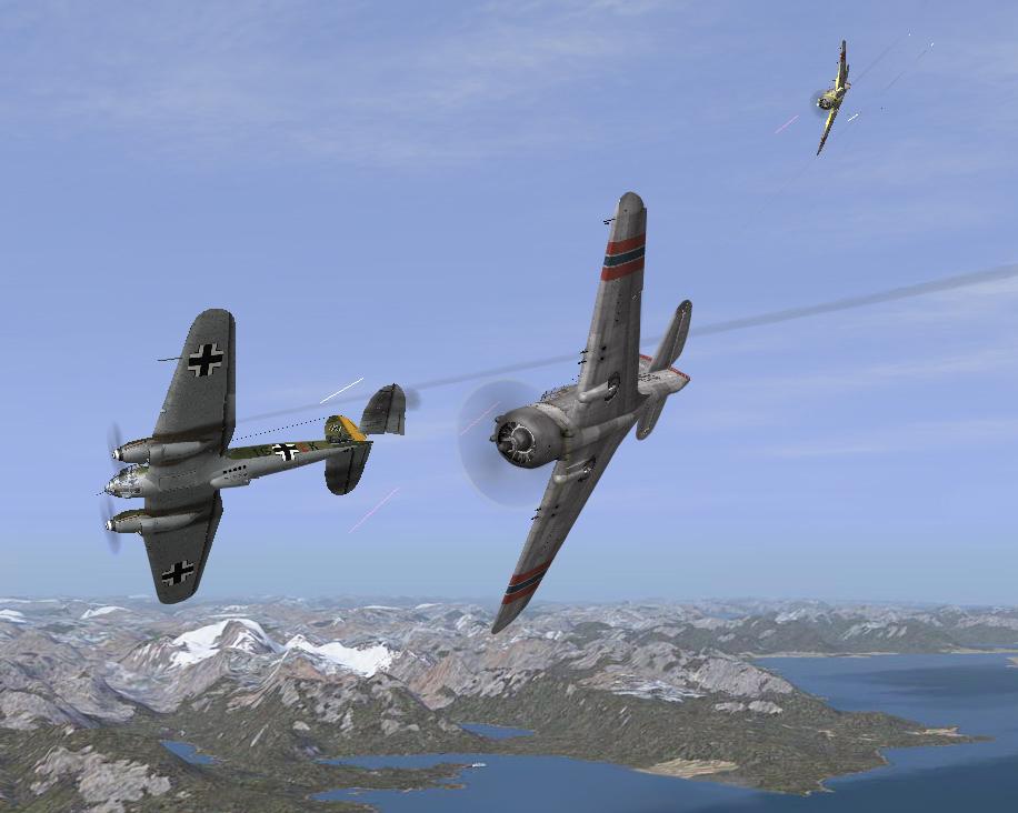Norway 04/1940 P36 against He111