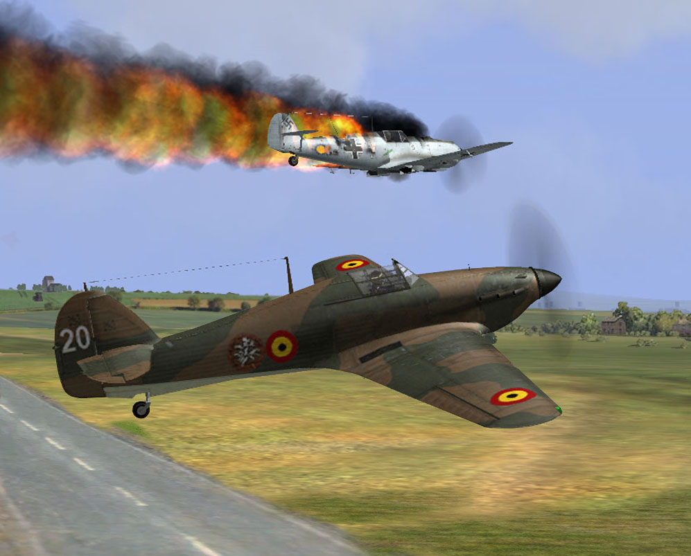 MKI finally took advantage over 109 Belgium may 1940