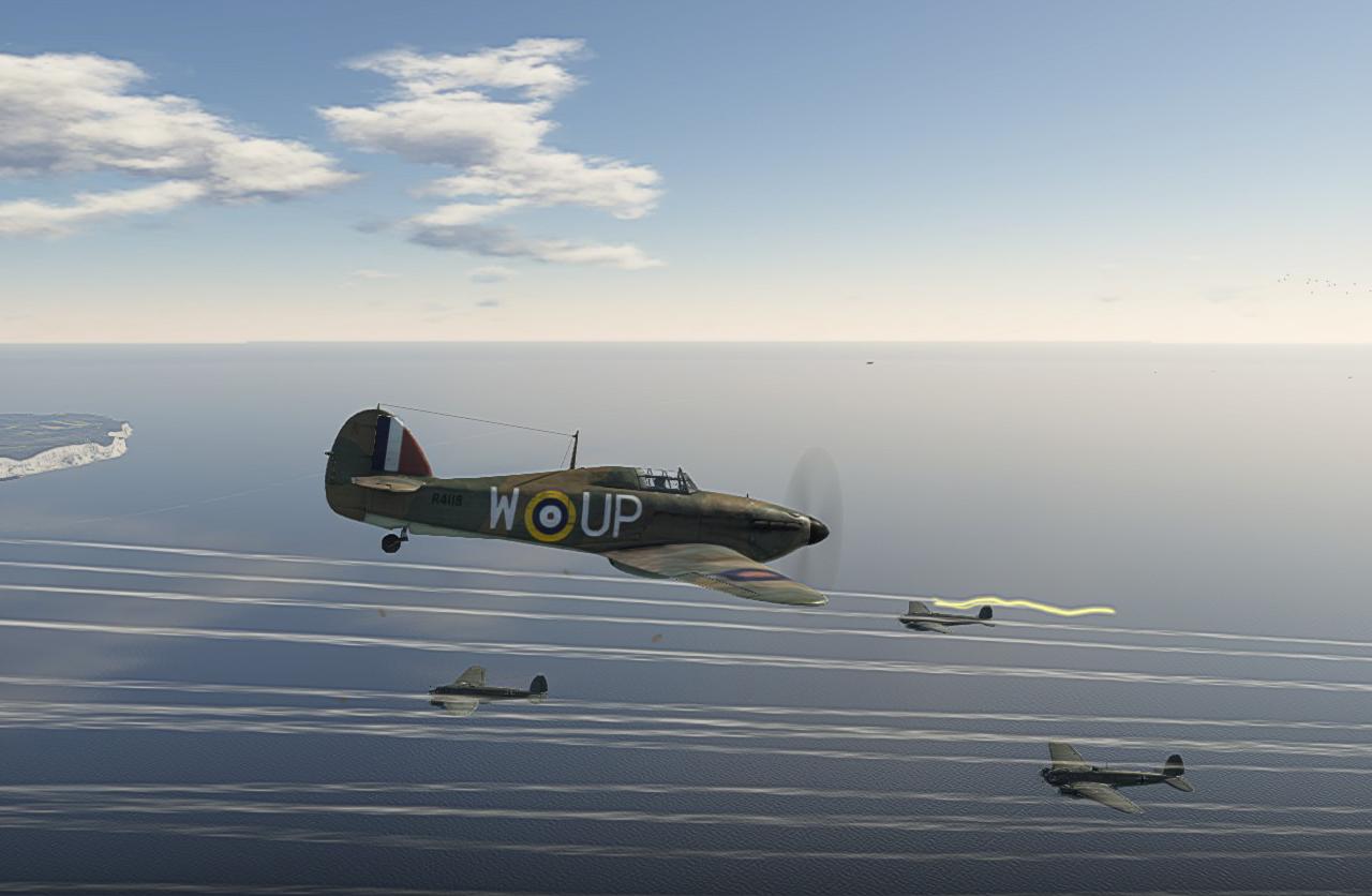 07/1940 Hurricane intercepting He111s