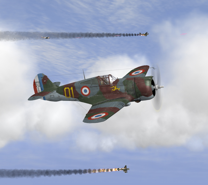 H 75s intercepting JU87 raid 05/1940