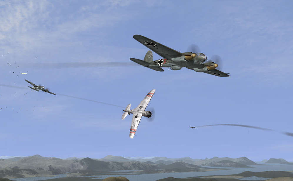 Norway 04/1940 fight between P36s and He111s