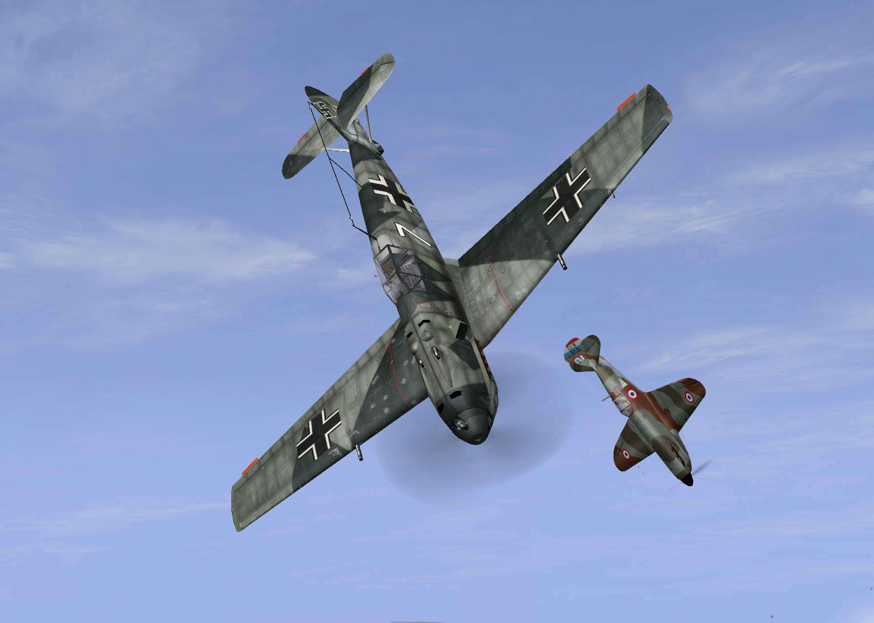 Bf109E and D520 north of France April 1940