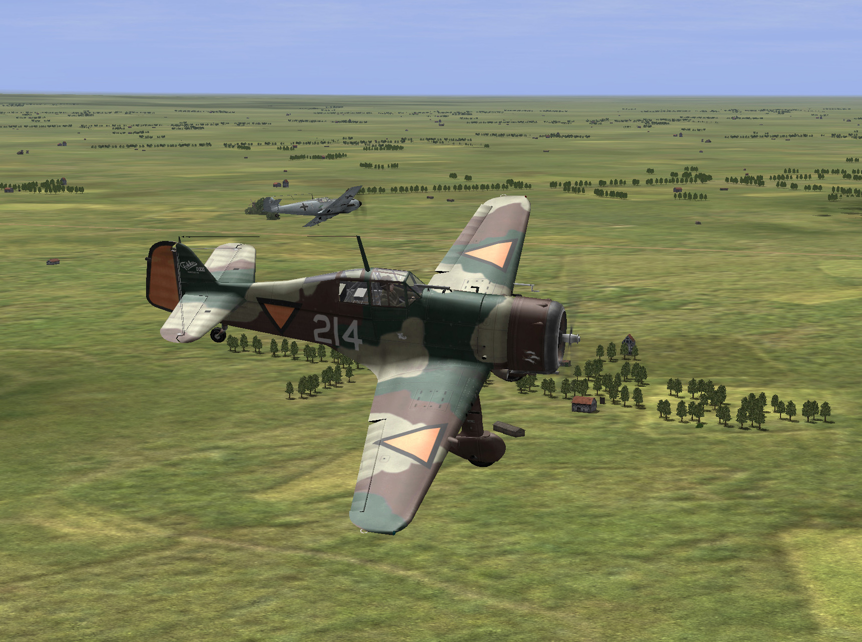 Holland 05 1940 Fokker DXXI facing Bf 109's