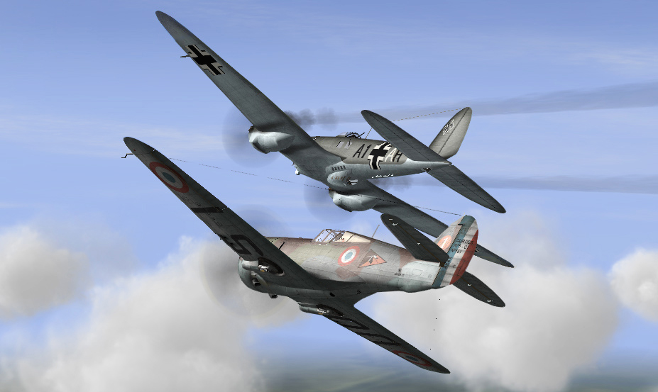 H 75 intercepting He111 bombers 05/1940