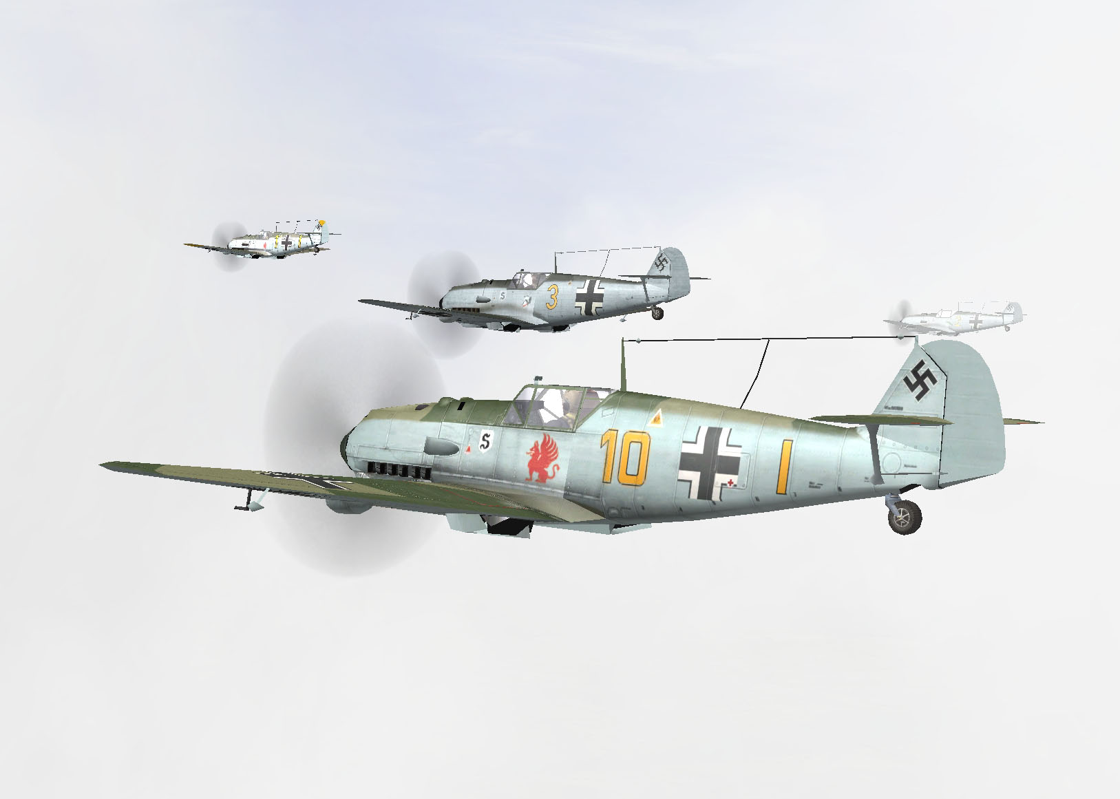 07/1940 Bf109 E3 on their way over the channel
