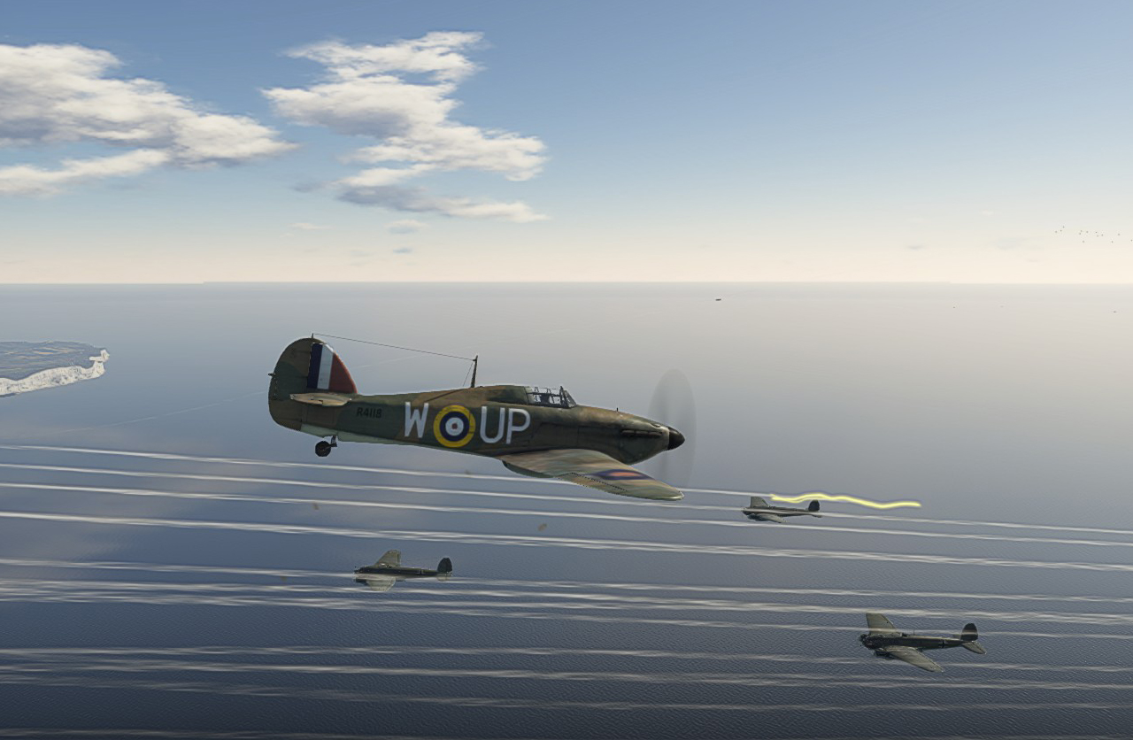 07/1940 Hurricane intercepting He111s