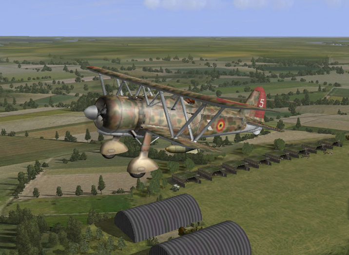 Belgium may 1940 CR42 taking of for a bombing mission