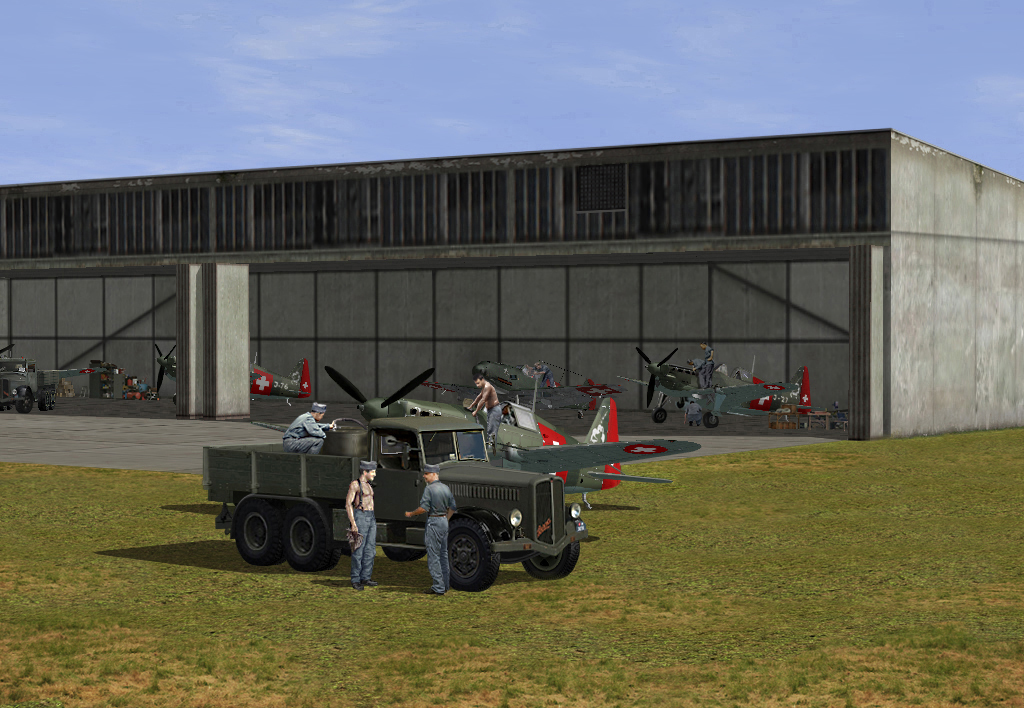 Swiss 05/1940 MS406 and Me B109E3 being worked on