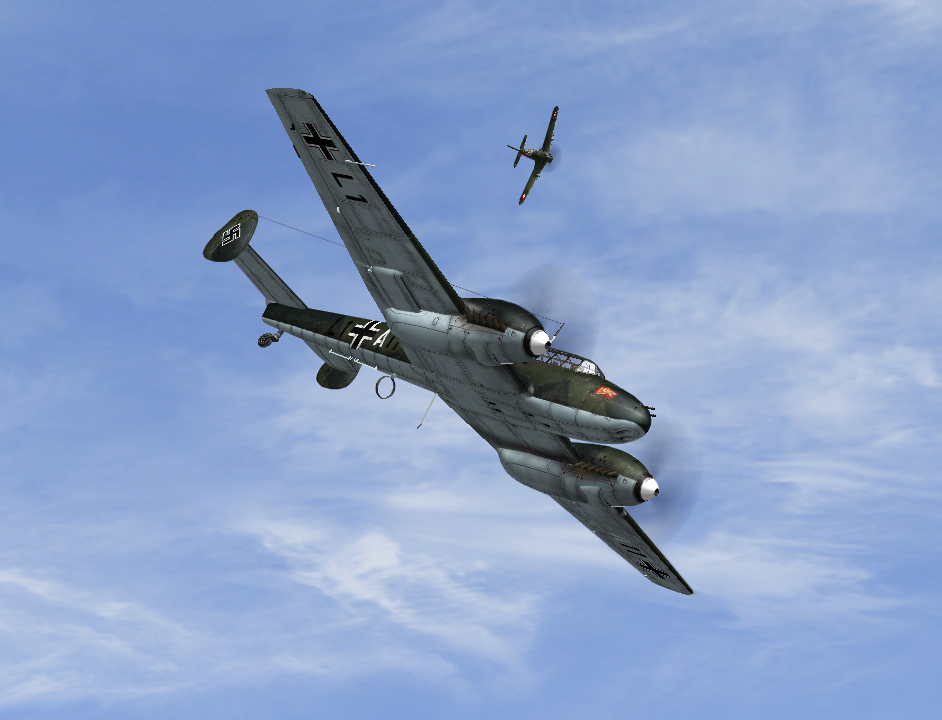Swiss 05/1940 MS406 in dogfight with Bf110s