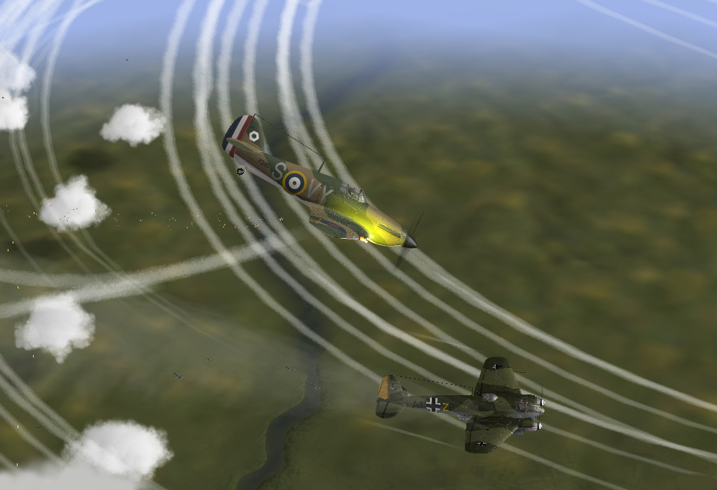 04/1940 Hurricanes of 85Sq in action against He 111s north of France