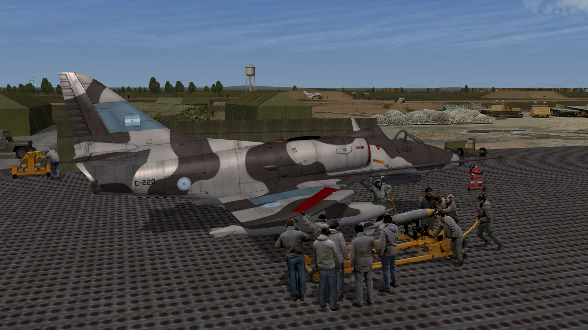 A4C Being loaded with bombs for a new mission