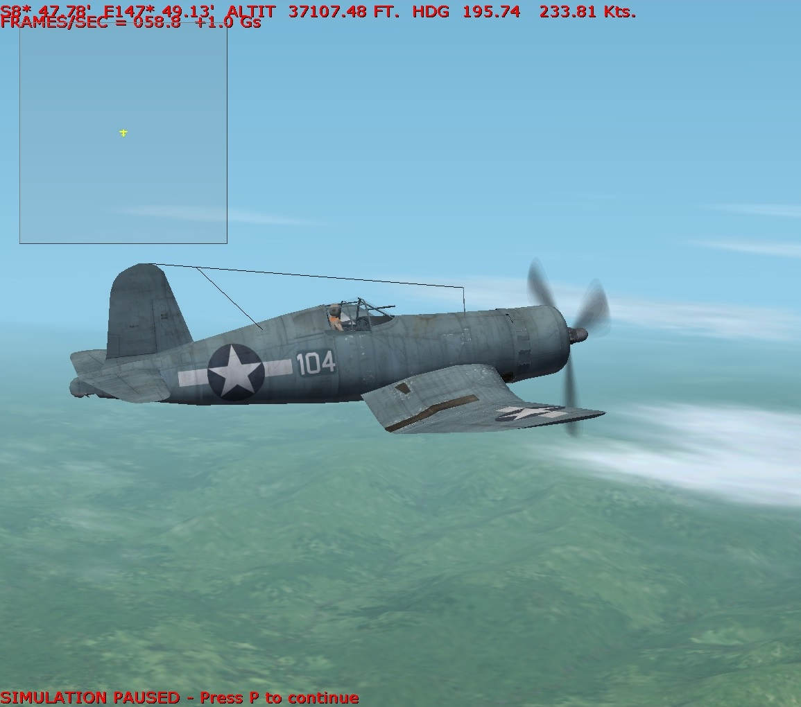F4U 1 Corsair Near Ceiling