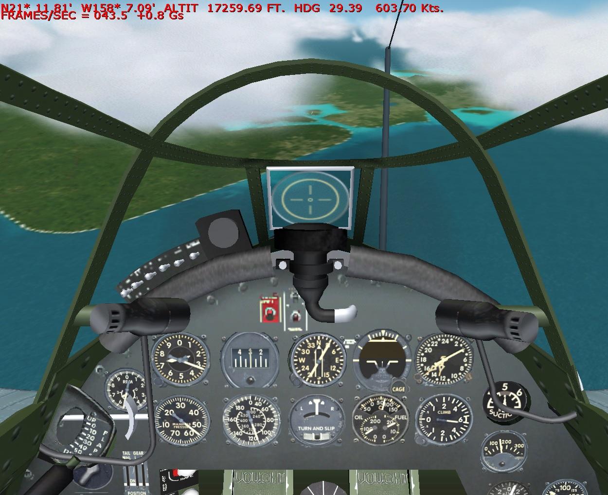 F4U 1 High speed Dive
