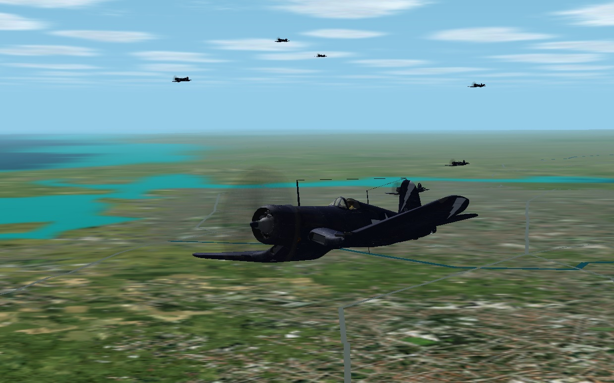 F4U 1C Corsairs On The prowl