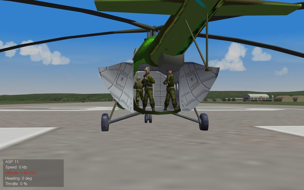 3 guys back of Mi-8