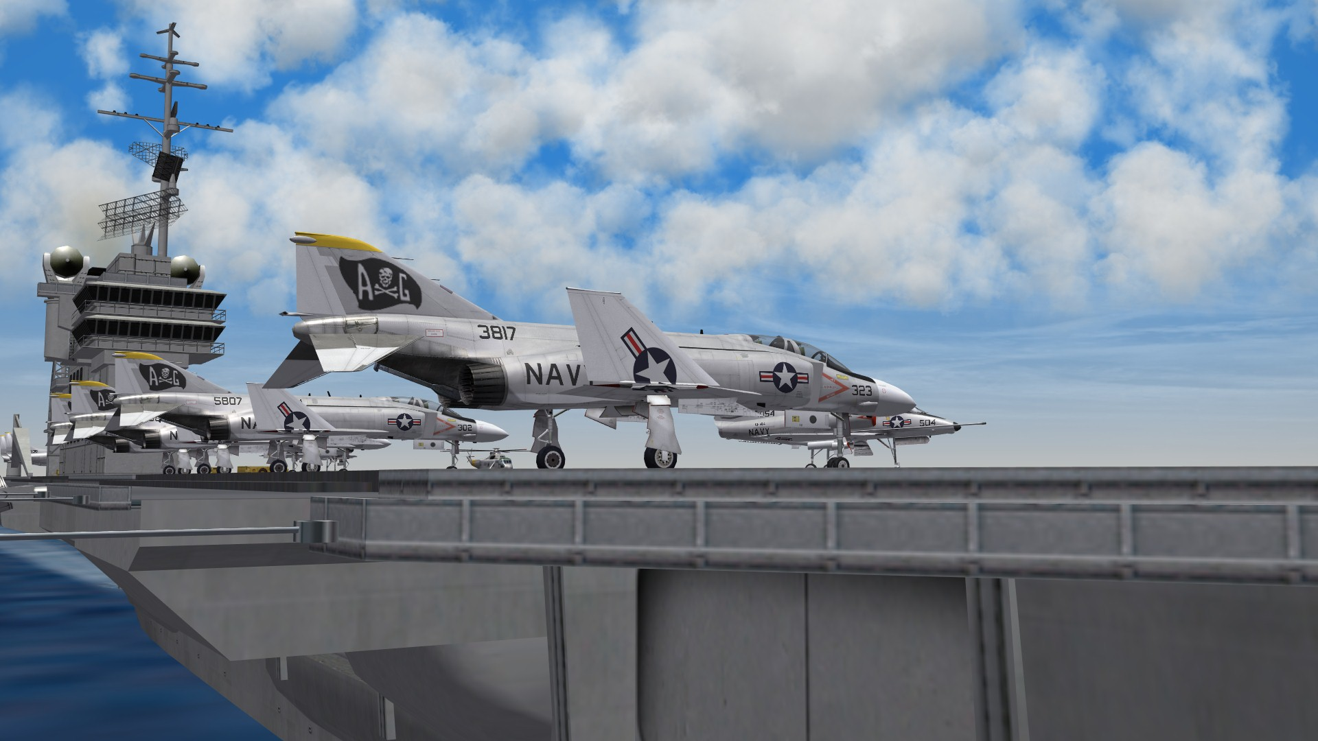 F-4s on Carrier