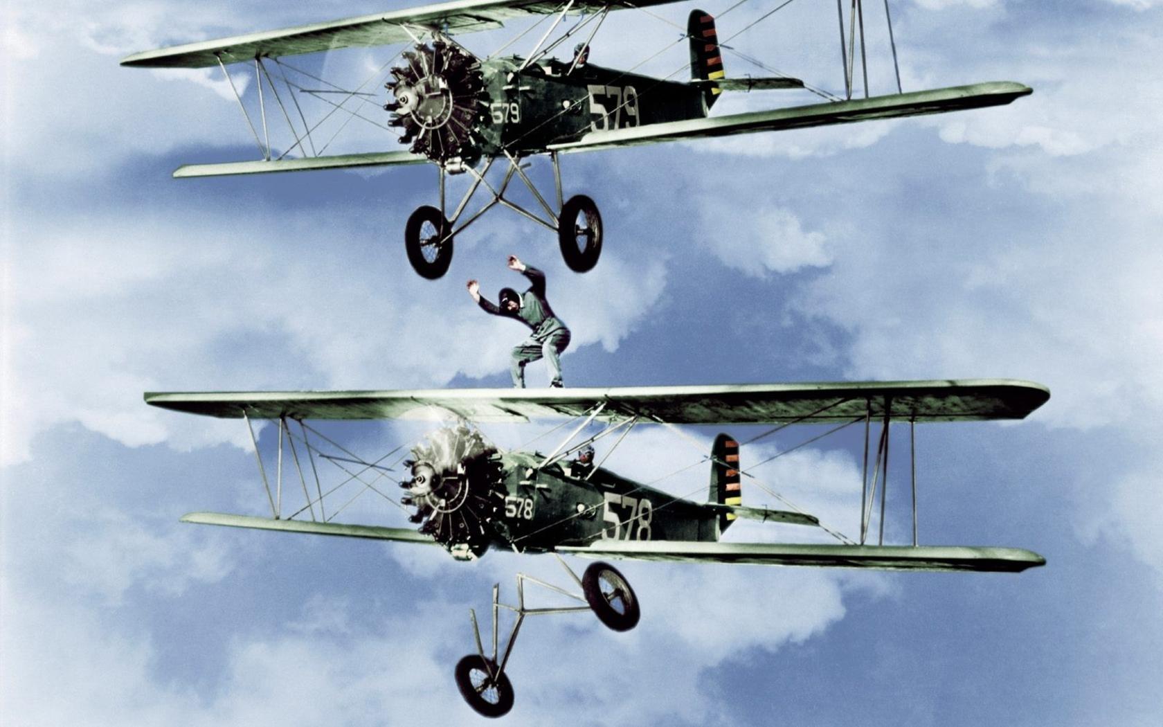 biplane daredevils widescreen wallpaper 73526