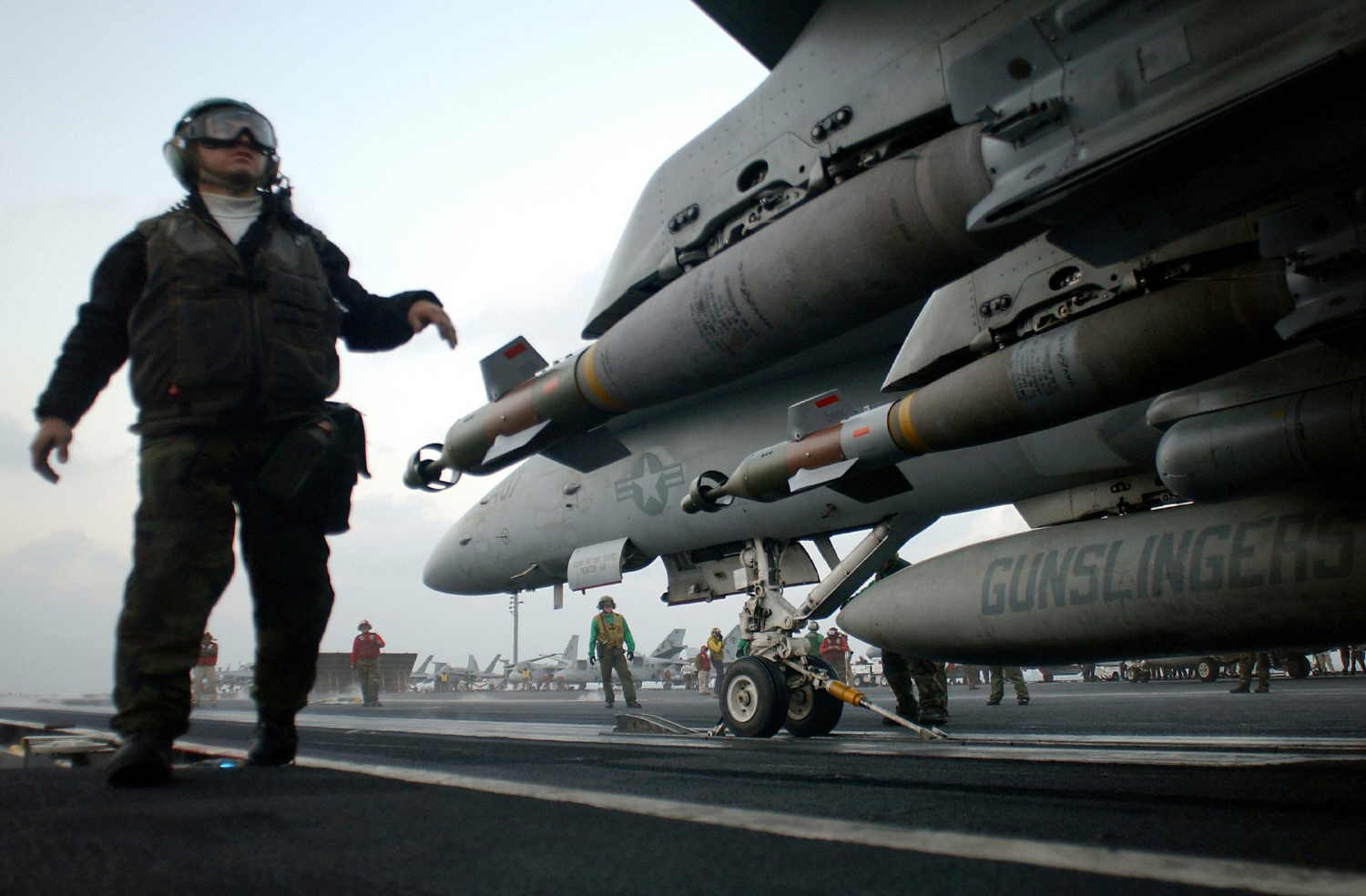 FA 18C launching from the deck of the USS Harry S. Truman CVN 75