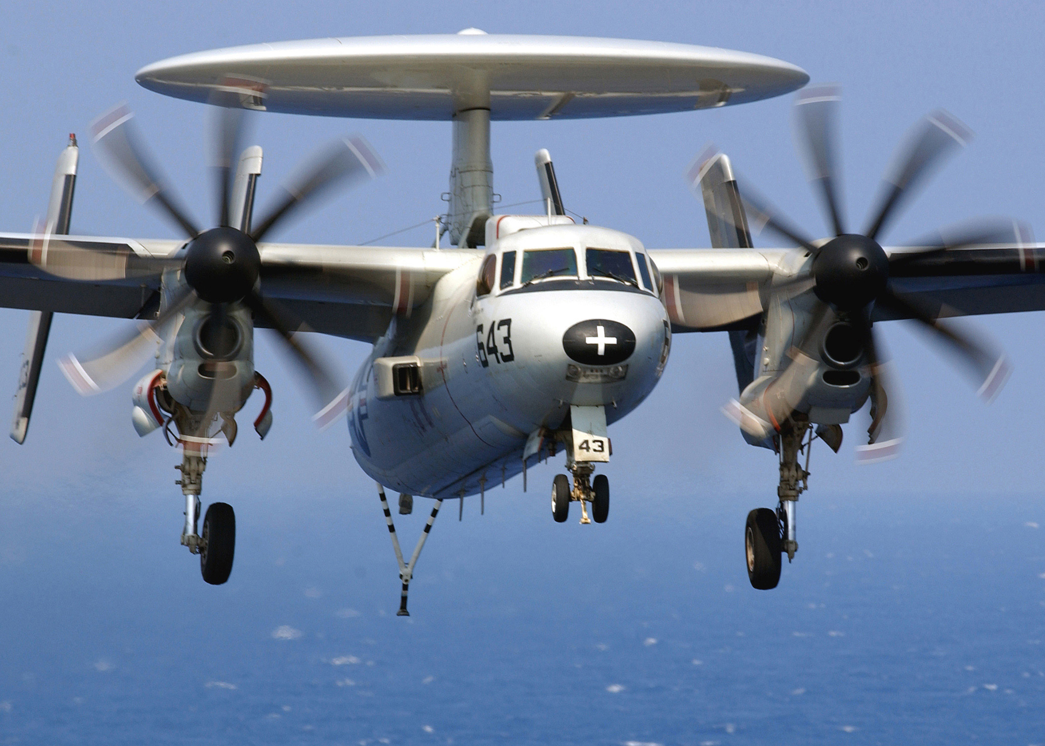 E2C Hawkeye on an inbound recovery to the USS Harry S Truman CVN 75