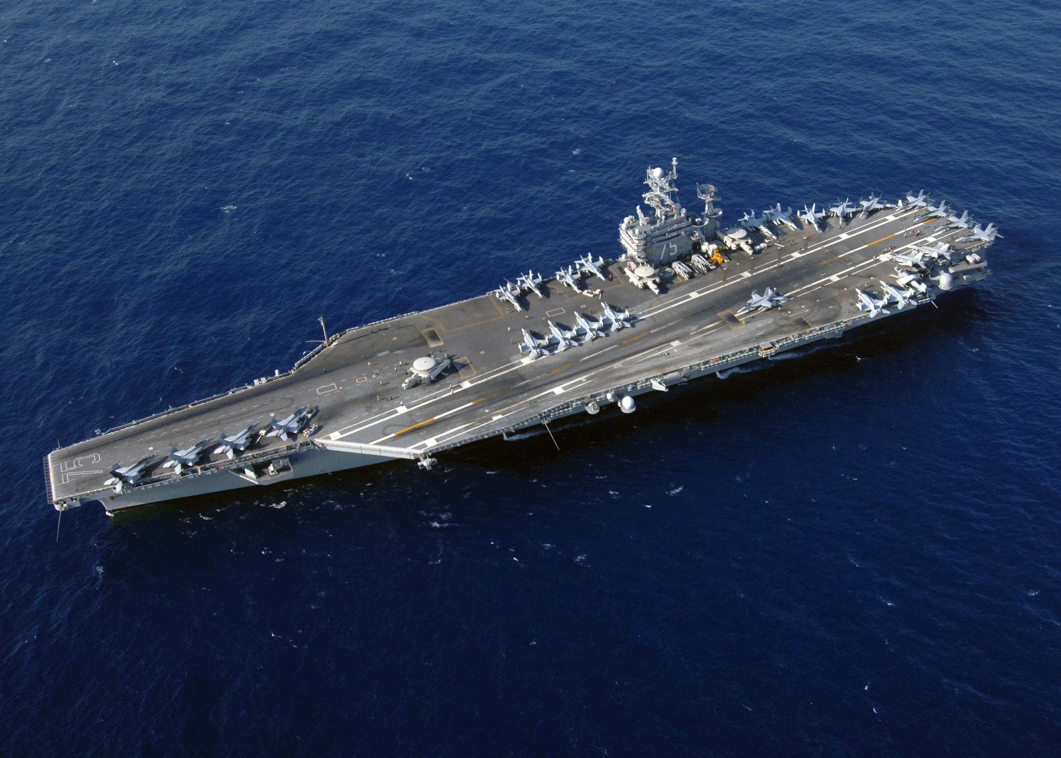 The USS Harry S. Truman CVN 75