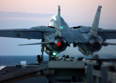 F14 launching from the deck of the USS Harry S. Truman CVN75