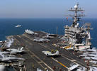 Busy flight deck of the USS Harry S. Truman CVN 75
