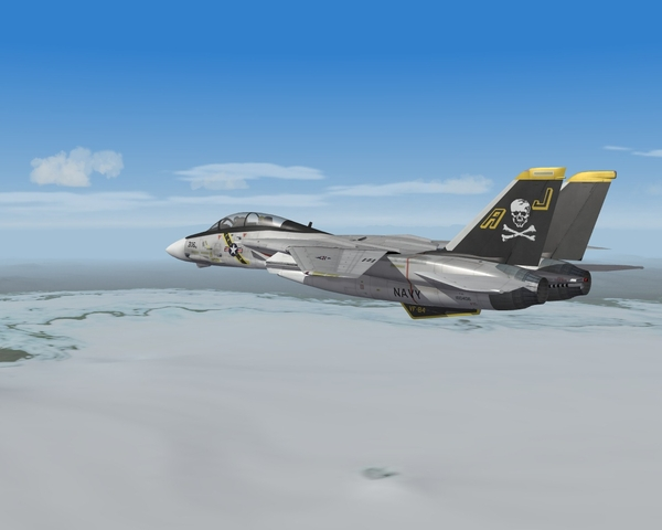 F-14 Tomcat over Iceland in SF2:North Atlantic