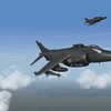 Harriers over the Falklands