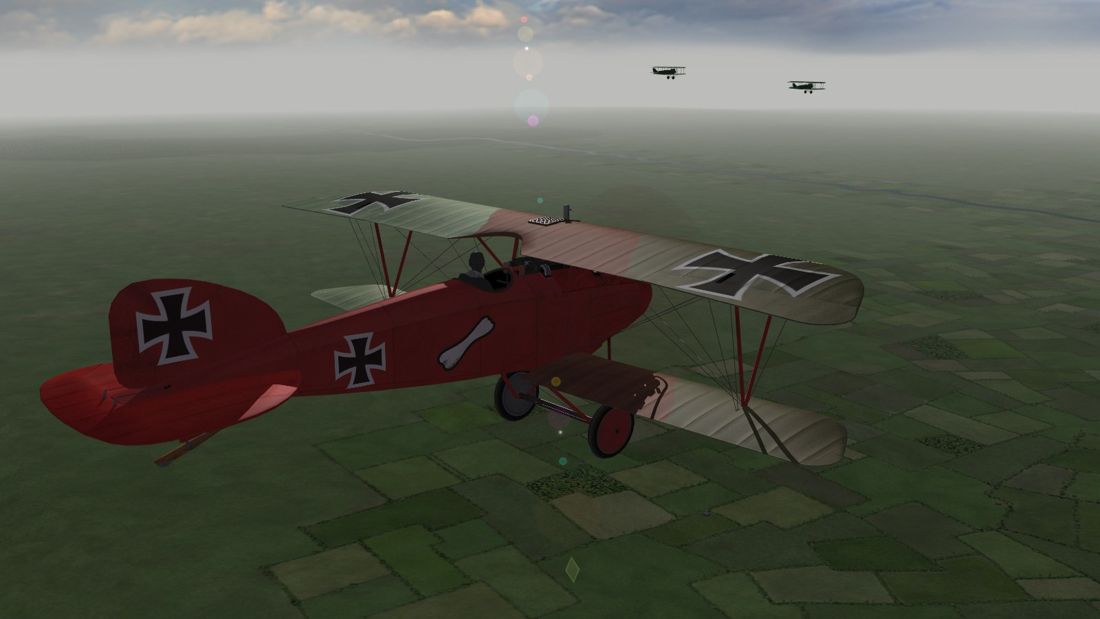 First Eagles 2, Armchair Aces campaign, Jasta 11, March 1917 - overtaking a pair of DFWs while leading my flight to our patrol area