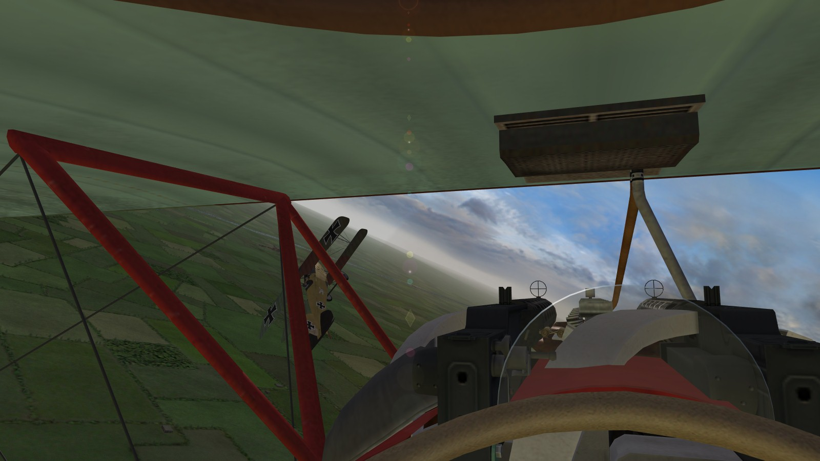 First Eagles 2, Armchair Aces campaign, Jasta 11, March 1917 - the black-tailed Albatros knocks down a Nieuport before I can join the party