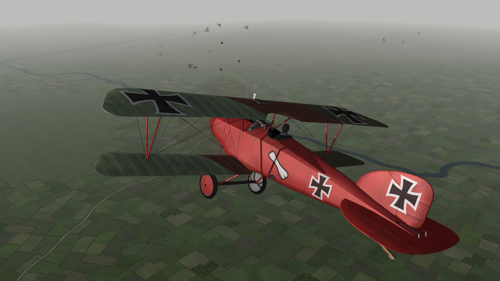 First Eagles 2, Armchair Aces campaign, Jasta 11, March 1917 - gaining height while I watch the enemy's movements and prepare for a flight attack.