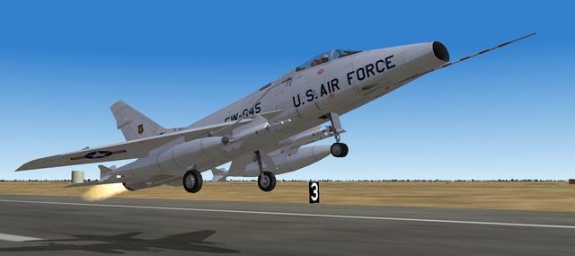 Super Sabre takes flight