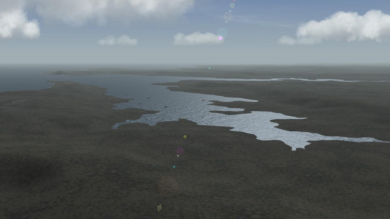 South Atlantic Terrain: San Carlos bay.